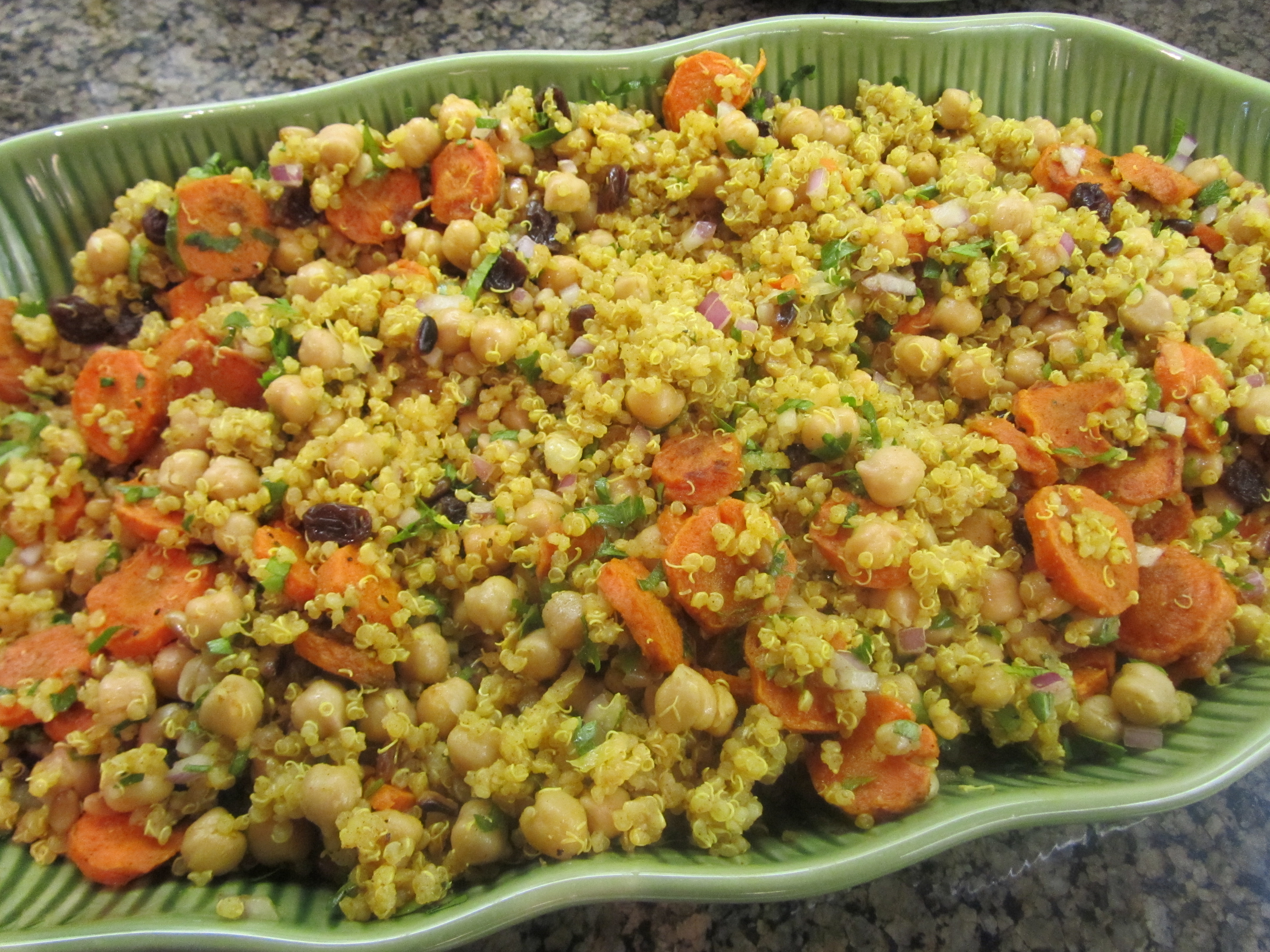 Moroccan Roasted Carrot and Chickpea Quinoa Salad