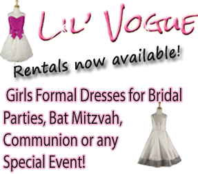 Lil' Vogue girls formalwear