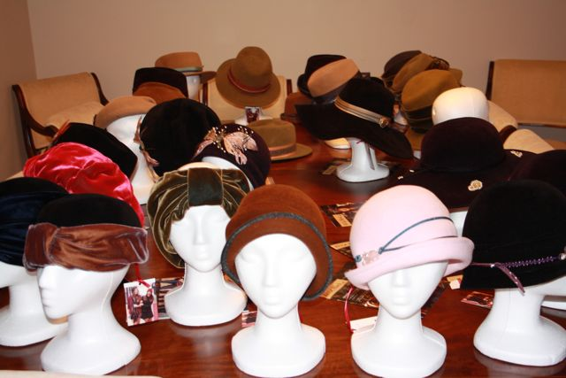 hats - on table