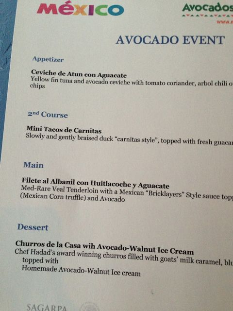 avocado -menu