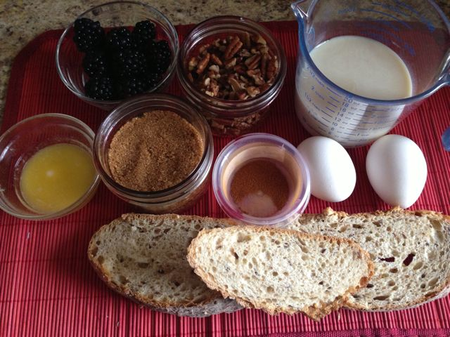 french toast - ingredients