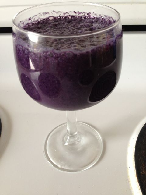 smoothie - blueberry