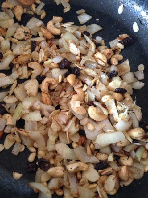 pilaf - onions and nuts