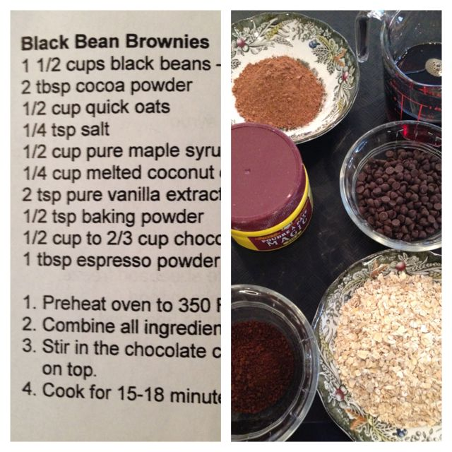 class - black bean brownies