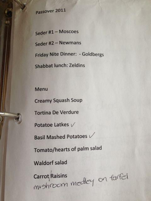 waldorf -menu