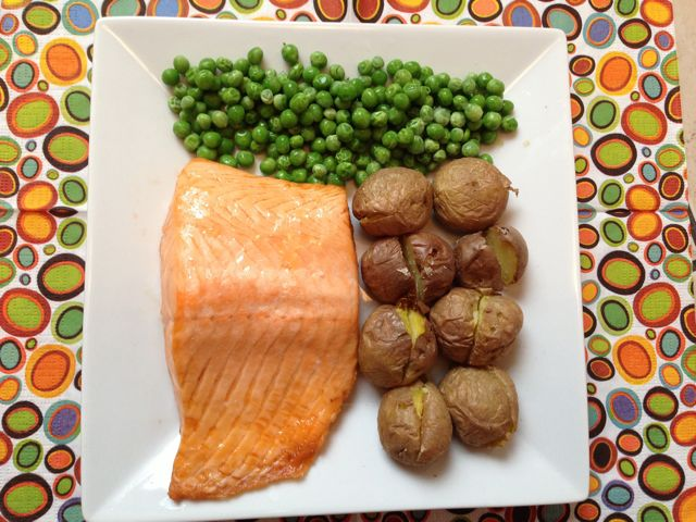 meals - fish, potatoes,pea