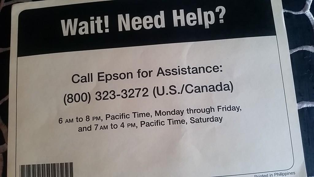 epson - help