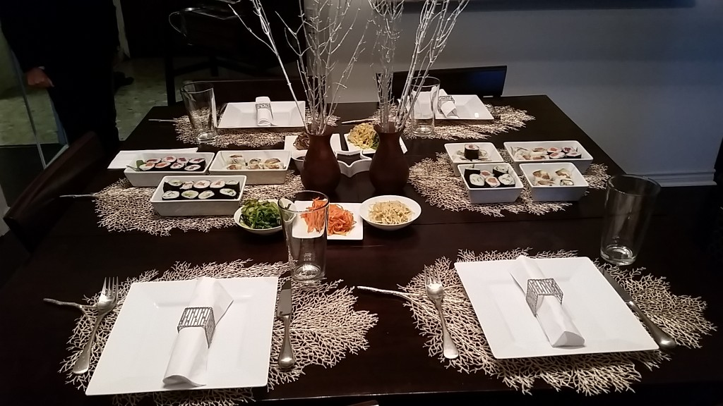 table setting - leaf