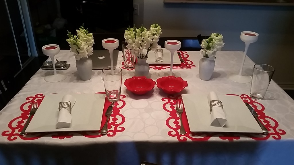 table settings - red
