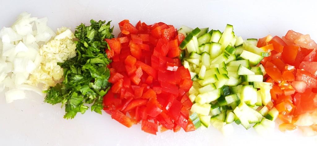 gazpacho - veggies