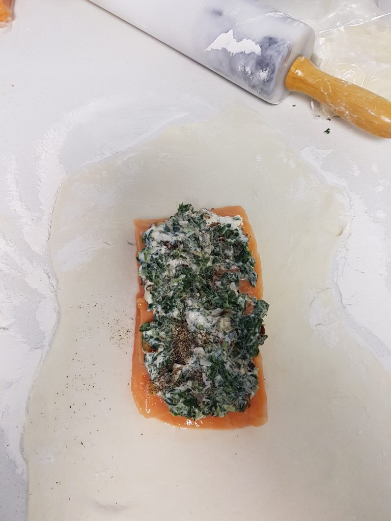 salmon-fishspinach