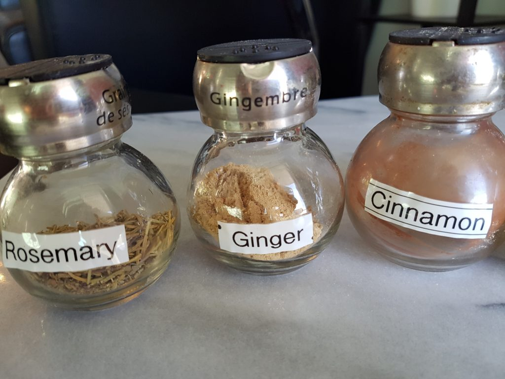 spices - labelled