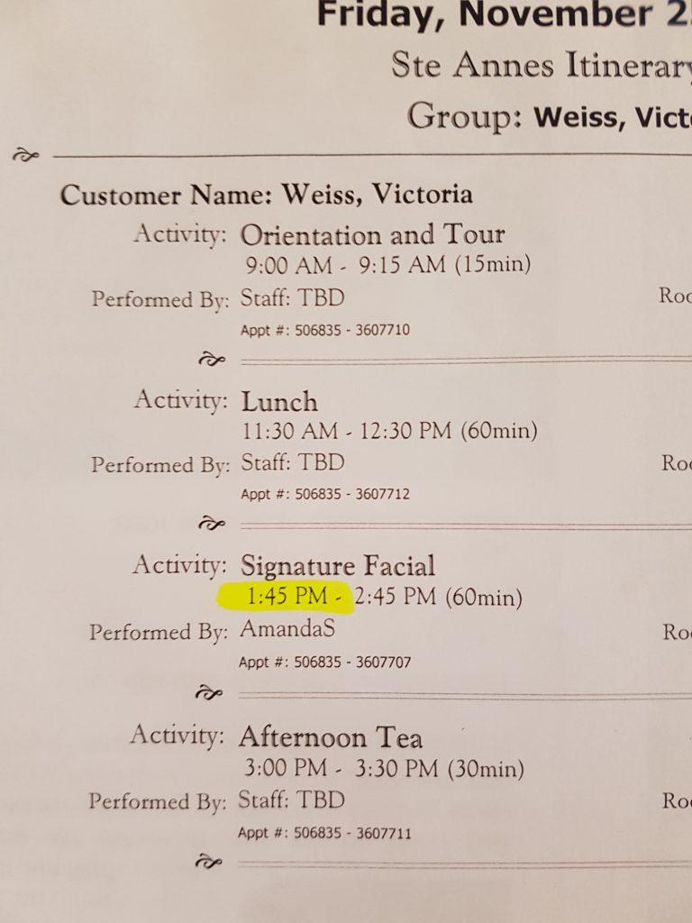 st annes - schedule