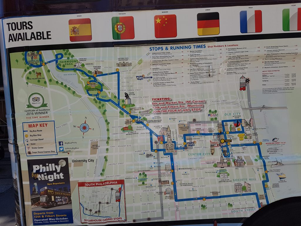 philly - bus map